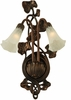 "Meyda Tiffany (11239) 11""W White Pond Lily 2 Light Wall Sconce"