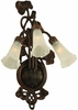 "Meyda Tiffany (11846) 10.5""W White Pond Lily 3 Light Wall Sconce"