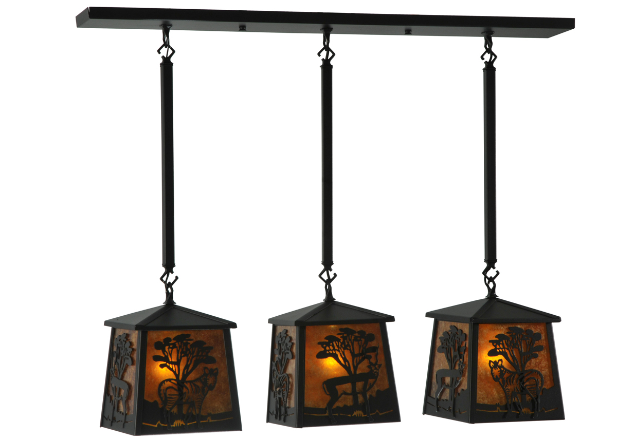 Meyda Tiffany 130904 37 Inch Length Serengeti 3 Light