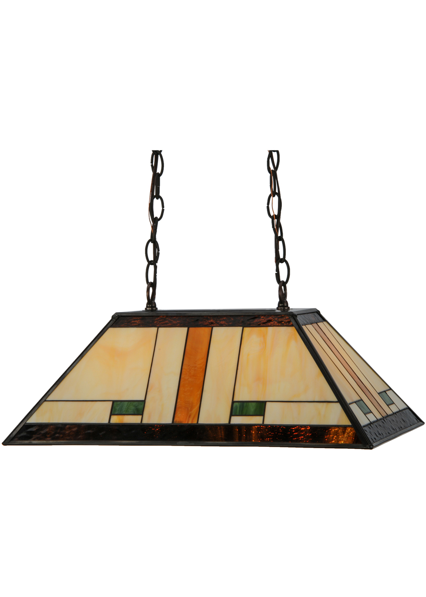 Meyda Tiffany 147783 21 Inch Length Manhattan Oblong Pendant