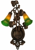 "Meyda Tiffany (16573) 11""W Amber/Green Pond Lily 2 Light Wall Sconce"