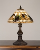 Meyda Tiffany (26990) 16.5 Inch Height Jeweled Grape Accent Lamp