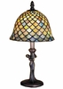 "Meyda Tiffany (30315) 15""H Tiffany Fishscale Mini Lamp"