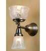 Meyda Tiffany (50755) 7 Inch Width Auburn Wreath & Garland 2 Light Gas & Electric Wall Sconce