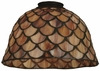 Meyda Tiffany (65168) 8 Inch Width Tiffany Fishscale Replacement Shade