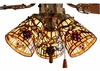 Meyda Tiffany (67013) 4 Inch Width Jeweled Grape Fan Light Shade