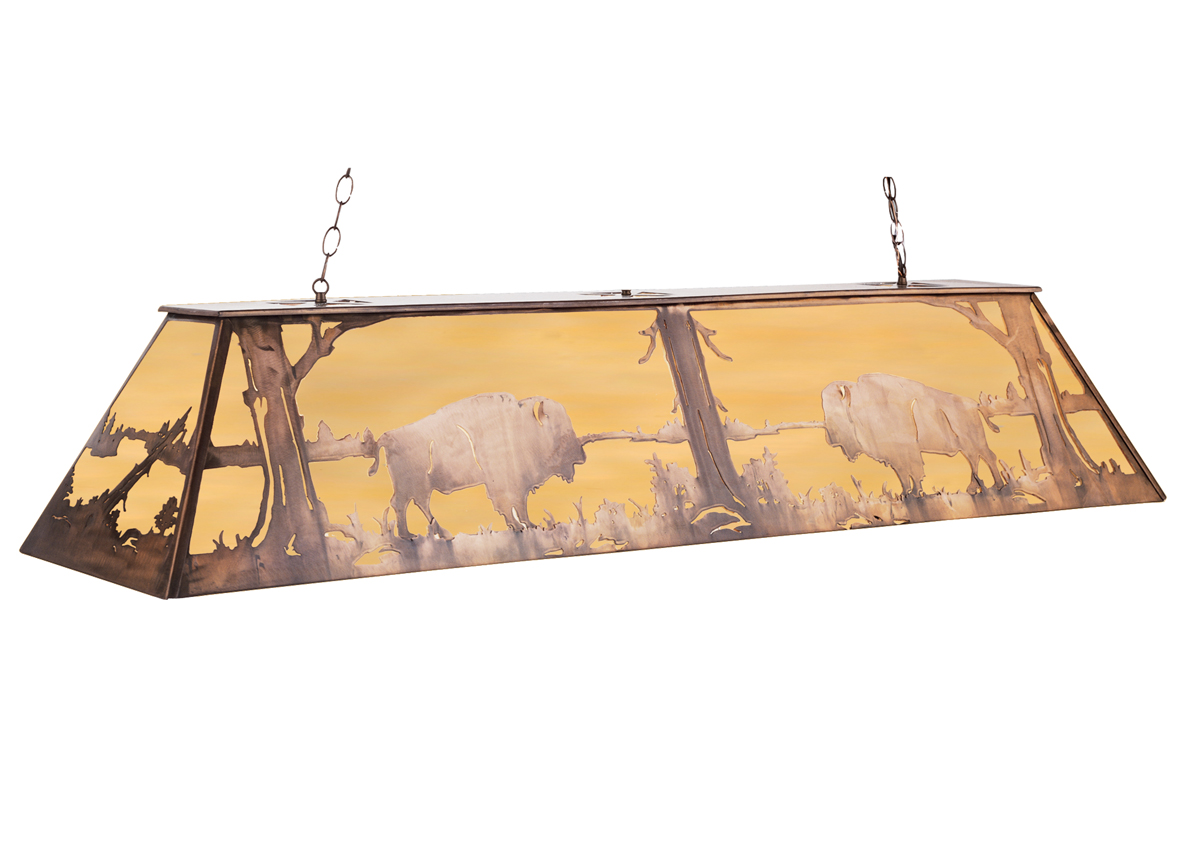 Meyda Tiffany 67771 72 Inch Length Buffalo Oblong Pendant