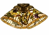 "Meyda Tiffany (72071) 7""W Jeweled Grape Fan Light Shade"
