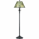 Mica- Americana Style Mica Leaf Floor Lamp In  Finish From Quoizel Lighting- MC410F
