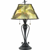 Mica- Americana Style Mica Leaf Table Lamp In  Finish From Quoizel Lighting- MC410T