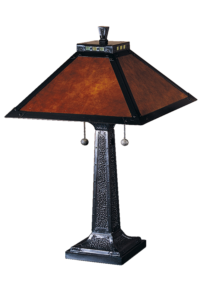 Dale Tiffany Lighting (TT100174) Mica Camelot Table Lamp shown in Mica Bronze Finish