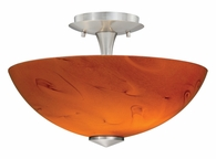 "Vaxcel Lighitng (C0003) Milano 13"" Ceiling Light with Honey Ripple Glass"