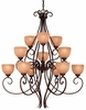 Minka Lavery (728-355) Caspian 12 Light Chandelier