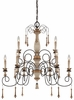 Minka Lavery (1239-580) Accents Provence 2 Tier 9 Light Chandelier