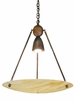 "Meyda Tiffany (66750) 25.5""W Deco Ball Beige Iridescent Inverted Pendant"