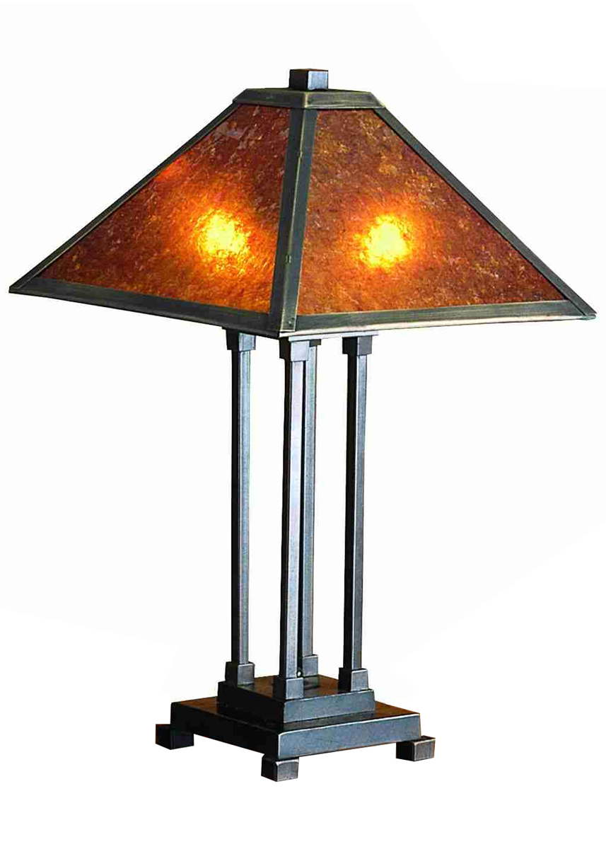 meyda tiffany 24217 24 inch height van erp amber mica table lamp. Black Bedroom Furniture Sets. Home Design Ideas