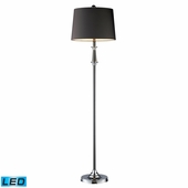 Monaca Steel Floor Lamp shown in Black Nickel And Chrome by Dimond Lighting