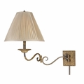 Wrought Iron Swing Arm Wall Lamps