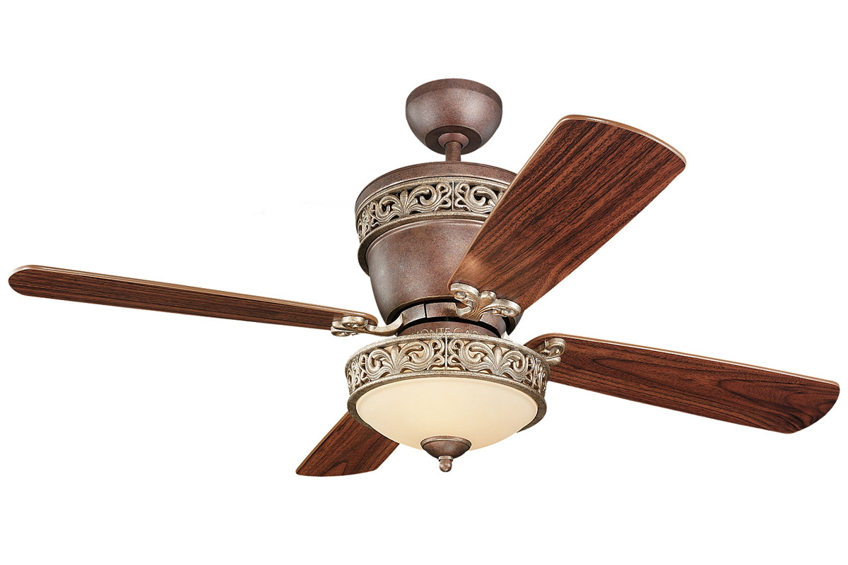42 Or 52 Inch 5 Blade Indoor Ceiling Fan With Included Light Kit Light Kit Included Ceiling