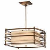 Moxie Pendant 2 Light shown in Cambridge Bronze by Kichler Lighting