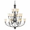 Murray Feiss Lighting (F2254/6+6+3ORB) Barrington 15 Light Multi-Tier Chandelier shown in Oil Rubbed Bronze Finish
