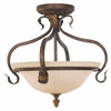Murray Feiss Lighting (SF215ATS) Sonoma Valley 3 Light Indoor Semi-Flush Mount shown in Aged Tortoise Shell Finish