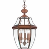 Newbury- Americana Style Newbury Outdoor Fixture In Aged Copper Finish From Quoizel Lighting- NY1179AC