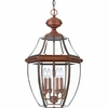 Newbury- Americana Style Newbury Outdoor Fixture In Aged Copper Finish From Quoizel Lighting- NY1180AC
