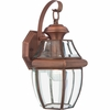 Newbury- Americana Style Newbury Outdoor Fixture In Aged Copper Finish From Quoizel Lighting- NY8316AC