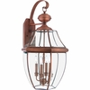 Newbury- Americana Style Newbury Outdoor Fixture In Aged Copper Finish From Quoizel Lighting- NY8339AC