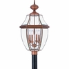 Newbury- Americana Style Newbury Outdoor Fixture In Aged Copper Finish From Quoizel Lighting- NY9045AC