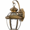 Newbury- Americana Style Newbury Outdoor Fixture In Antique Brass Finish From Quoizel Lighting- NY8315A