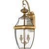 Newbury- Americana Style Newbury Outdoor Fixture In Antique Brass Finish From Quoizel Lighting- NY8317A