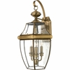 Newbury- Americana Style Newbury Outdoor Fixture In Antique Brass Finish From Quoizel Lighting- NY8318A