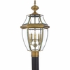 Newbury- Americana Style Newbury Outdoor Fixture In Antique Brass Finish From Quoizel Lighting- NY9043A