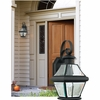 Newbury- Americana Style Newbury Outdoor Fixture In Mystic Black Finish From Quoizel Lighting- NY8315K