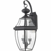 Newbury- Americana Style Newbury Outdoor Fixture In Mystic Black Finish From Quoizel Lighting- NY8317K
