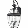Newbury- Americana Style Newbury Outdoor Fixture In Mystic Black Finish From Quoizel Lighting- NY8318K
