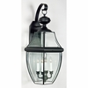 Newbury- Americana Style Newbury Outdoor Fixture In Mystic Black Finish From Quoizel Lighting- NY8339K
