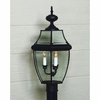 Newbury- Americana Style Newbury Outdoor Fixture In Mystic Black Finish From Quoizel Lighting- NY9045K