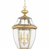 Newbury- Americana Style Newbury Outdoor Fixture In Polished Brass Finish From Quoizel Lighting- NY1179B