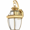 Newbury- Americana Style Newbury Outdoor Fixture In Polished Brass Finish From Quoizel Lighting- NY8316B