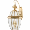 Newbury- Americana Style Newbury Outdoor Fixture In Polished Brass Finish From Quoizel Lighting- NY8317B