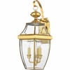 Newbury- Americana Style Newbury Outdoor Fixture In Polished Brass Finish From Quoizel Lighting- NY8318B