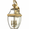Newbury- Americana Style Newbury Outdoor Fixture In Polished Brass Finish From Quoizel Lighting- NY8339B