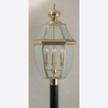 Newbury- Americana Style Newbury Outdoor Fixture In Polished Brass Finish From Quoizel Lighting- NY9045B