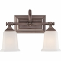 Nicholas- Contemporary Style Nicholas Bath Fixture In Harbor Bronze Finish From Quoizel Lighting- NL8602HO