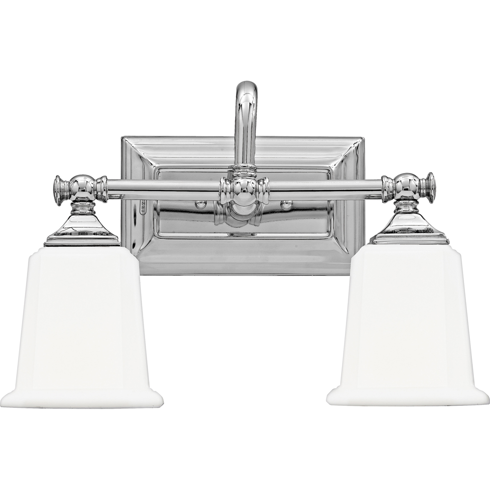 Nicholas- Contemporary Style Nicholas Bath Fixture In Polished Chrome Finish From Quoizel Lighting- NL8602C