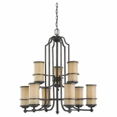 Nine Light Multi-Tier Chandelier