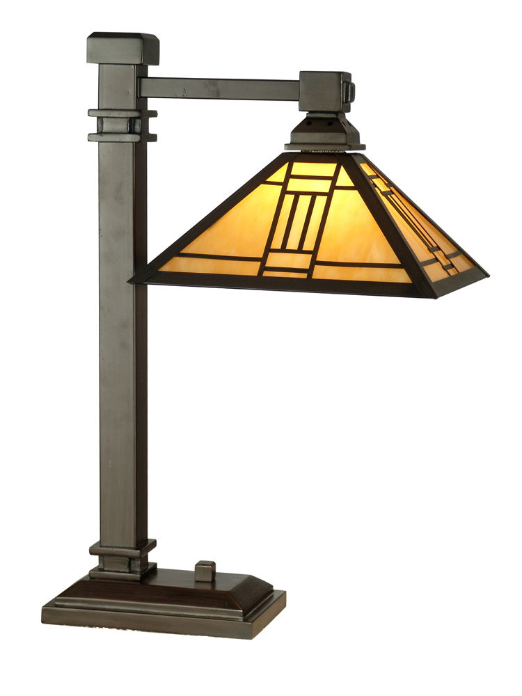 Dale Tiffany Lighting (TT100016) Noir Mission Table Lamp shown in Mica Bronze Finish